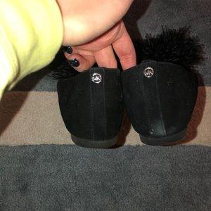 MICHAEL Michael Kors Shoes - MICHAEL Michael Kors Feather Pom Pom Slip Ons